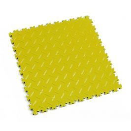 Fortelock Žlutá plastová vinylová zátěžová dlaždice Industry 2010 (diamant) - 51 x 51 x 0,7 cm