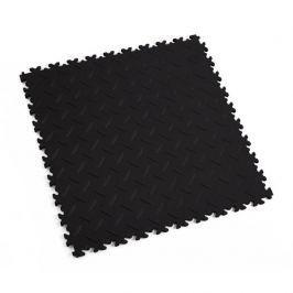 Fortelock Černá plastová vinylová zátěžová dlaždice Eco 2010 (diamant) - 51 x 51 x 0,7 cm