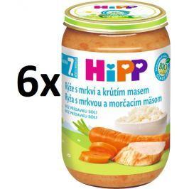 HiPP Rýže smrkví a krůtím masem - 6x220g