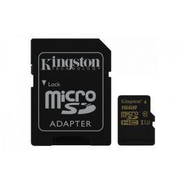 Kingston microSDHC 16GB 90MB/s UHS-I U3 + SD adaptér (SDCG/16GB)