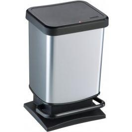 Rotho Odpadkový koš Paso 20 l stříbrná