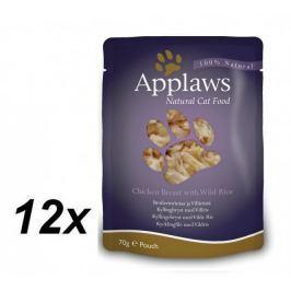 Applaws Kapsička Cat - kuřecí prsa a divoká rýže 12 x 70g