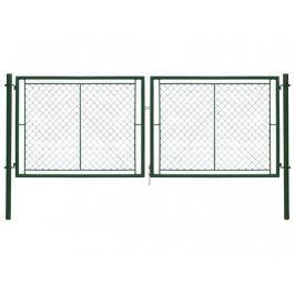 Dvoukřídlá brána poplastovaná Zn+PVC 3605×1550 mm
