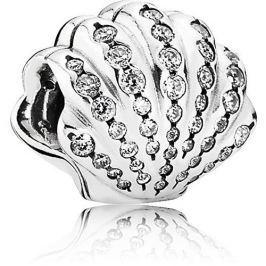 Pandora Stříbrný klip Disney Arielina mušle 791574CZ stříbro 925/1000