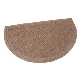 FLOMAT Hnědá textilní vstupní půlkruhová rohož Crossing Lines - 75 x 45 x 0,8 cm