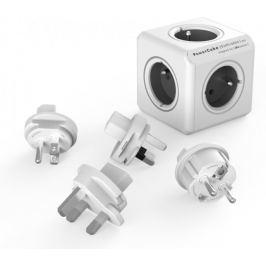 PowerCube ReWirable + Travel Plugs, Grey