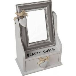 Toro Zrcadlo ve dřevěném rámečku + šuplík
