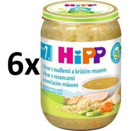 HiPP Vývar s nudlemi a krůtím masem - 6x190g