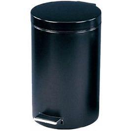 M.A.T. Group Odpadkový koš nášlapný 3 l černý s vložkou