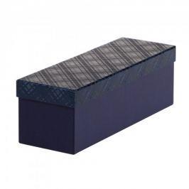 Dárková krabice Linda 6, tmavě modrá kára - 36x11,7x11,7 cm
