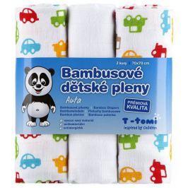 T-tomi Bambusové pleny, sada 3 kusů, Auta
