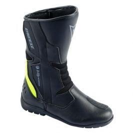 Dainese boty TEMPEST D-WP vel.46 černá/fluo žlutá, kůže/textil (pár)