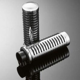 Highway-Hawk gripy 25mm  CLASSIC s uchycením lanek, chrom/černá (2ks)