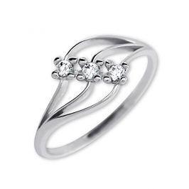 Brilio Dámský prsten s krystaly 229 001 00546 07 - 1,50 g (Obvod 58 mm) zlato bílé 585/1000