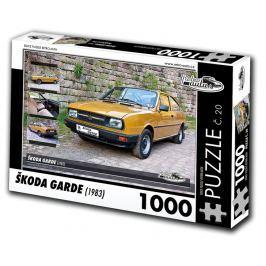 RETRO-AUTA© Puzzle č. 20 - ŠKODA GARDE (1983) 1000 dílků