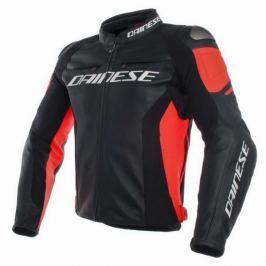 Dainese bunda RACING 3 vel.44 černá/červená-fluo, kůže
