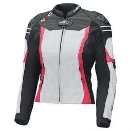 Held dámská bunda STREET 3.0 černá/bílá/růžová vel.40, kůže