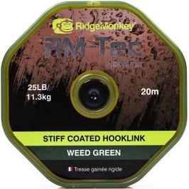 RIDGEMONKEY Návazcová Šňůrka RM Tec Stiff Coated Hooklink 20 m Zelená 35 lb