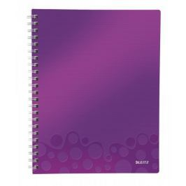 Blok organizační Leitz WOW A4  linkovaný purpurový