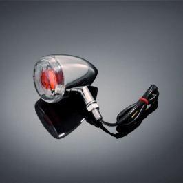 Highway-Hawk moto blinkr  60mm s čirou čočkou, E-mark, chrom (1ks)