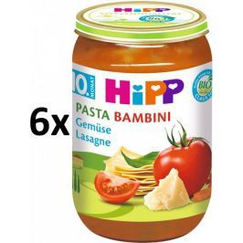 HiPP BIO PASTA BAMBINI Zeleninové lasagne - 6 x 220g