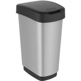 Rotho Odpadkový koš Twist 25 l, silver