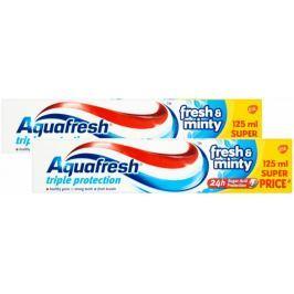 Aquafresh Fresh&Minty zubní pasta 2x 125 ml