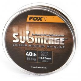 Fox Splétaná Šňůra Submerge Sinking Braided Mainline Camo 300 m 0,16 mm, 11,3 kg