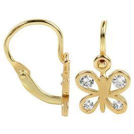 Brilio Dětské zlaté náušnice motýlci 239 001 00293 - 0,80 g zlato žluté 585/1000