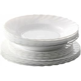 Toro Sada jídelních talířů Titan opálové sklo, 18 ks