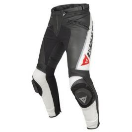 Dainese kalhoty DELTA PRO C2 PELLE vel.48 černá/bílá, kůže