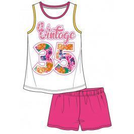 Mix 'n Match dívčí letní set 98 bílá/růžová