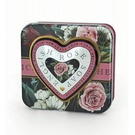Somerset Toiletry Luxusní tuhé mýdlo ve tvaru srdce Anglická růže (English Rose Soap) 150 g