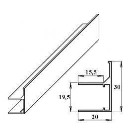 LanitPlast AL ukončovací / okrajový U/F-profil 16 mm 2.10 m