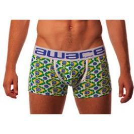 Aware Soho pánské boxerky Boxer 110 s delší nohavičkou a s designem Brazílie - Velikost: M