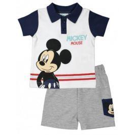 E plus M chlapecký letní set Mickey Mouse 62 bílá/modrá