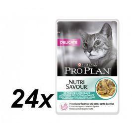Purina Pro Plan CAT DELICATE Mořské ryby kapsička 24x85g