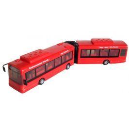 Mac Toys Autobus kloubový 1:48 červený