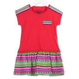 Losan dívčí šaty 92 červená