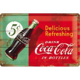 Postershop Plechová cedule 20x30 cm Coca-Cola (Dvoubarevná)