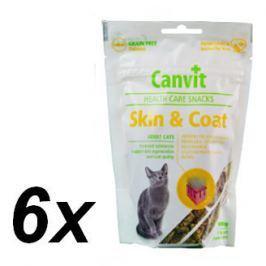 Canvit Snack CAT Skin & Coat 6 x 100g