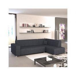 Rohová sedací souprava, P. rozklad/úložný prostor, šenil Boss 12 černo šedý, COLLI