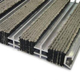 FLOMAT Textilní hliníková čistící vnitřní vstupní rohož Hardmat - 60 x 260 x 1,8 cm