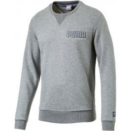 Puma STYLE Athletics Crew FL Medium Gray Heather M