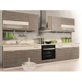 Kuchyně KAMMDUO 320/260, zebrano/hruška