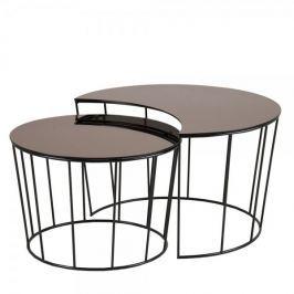 Design Scandinavia Konferenční stolky skleněné Solar, sada 2 ks