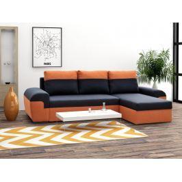 Rohová sedačka MORY KORNER, černá/oranžová DOPRODEJ