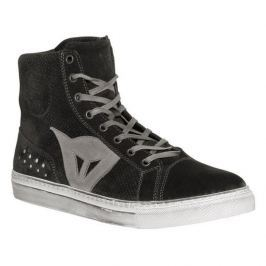 Dainese kotníkové boty STREET BIKER AIR vel.45 černá/antracit, kůže (pár)