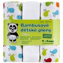 T-tomi Bambusové pleny, sada 3 kusů, Ptáčci