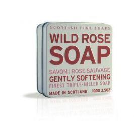 Scottish Fine Soap Mýdlo v plechu Divoká růže 100 g